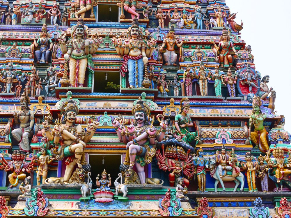 Kovil d'un temple hindou