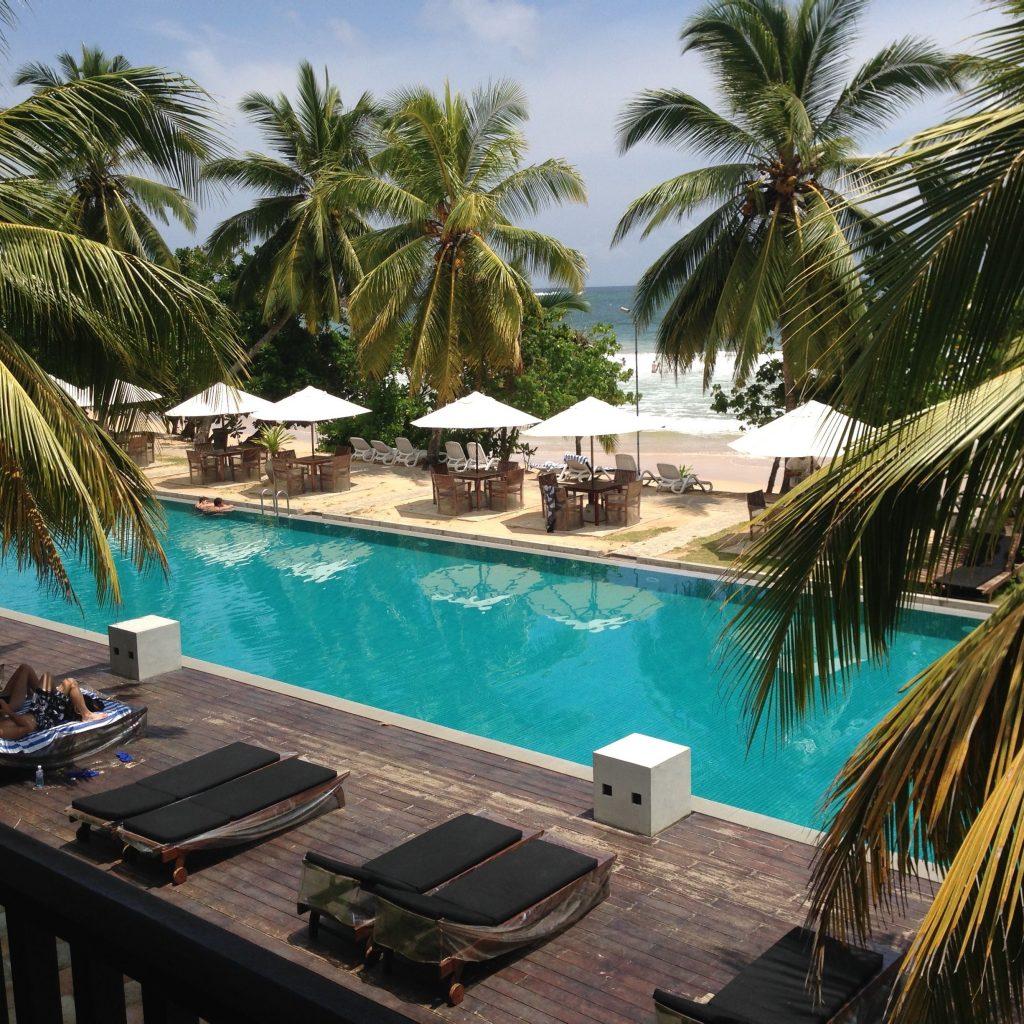 Mirissa, Strandhotel, Pool am Strand, Unterkünfte Sri Lanka