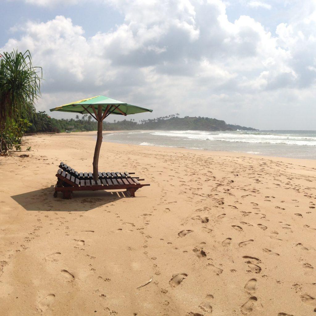 einsamer Strand, Talalla Beach, Sri Lanka