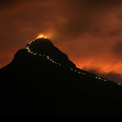 Adam's Peak by night