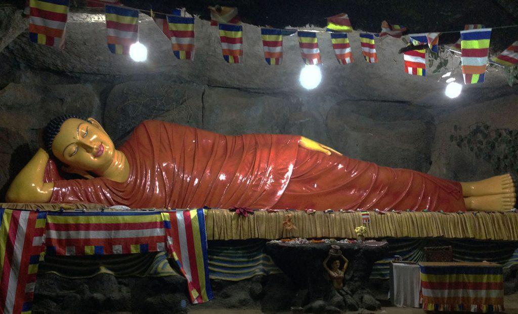 A statue of Bouddha at the Adam's Peak in Sri Lanka