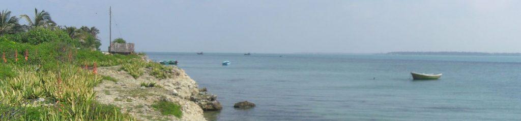 Les bords de la côte de Nainativu dans le nord du Sri Lanka.