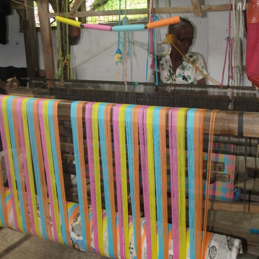 Artisanat, tissage, unawatuna, Sri Lanka,