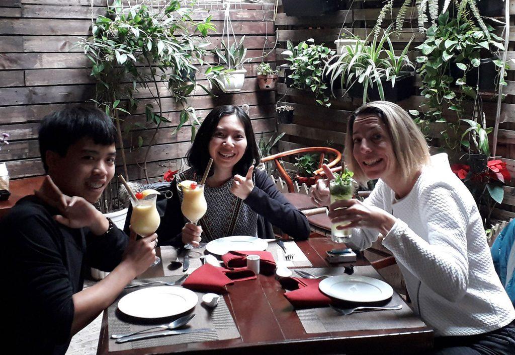 Die drei Team Mitglieder des MGT Teams in Vietnam.