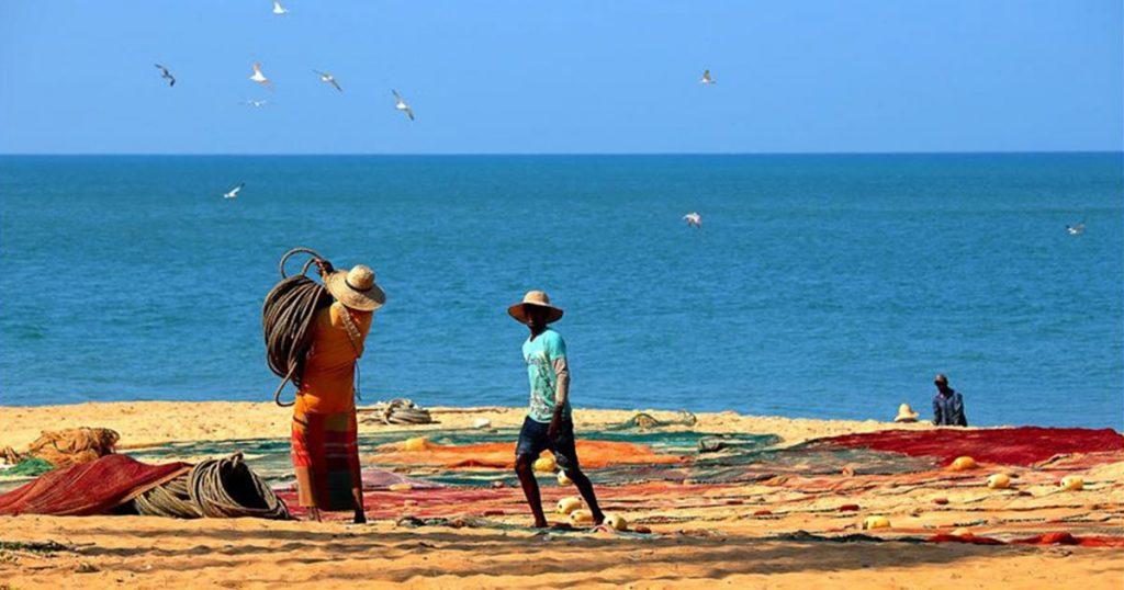 point Pedro au Sri Lanka pêcheurs