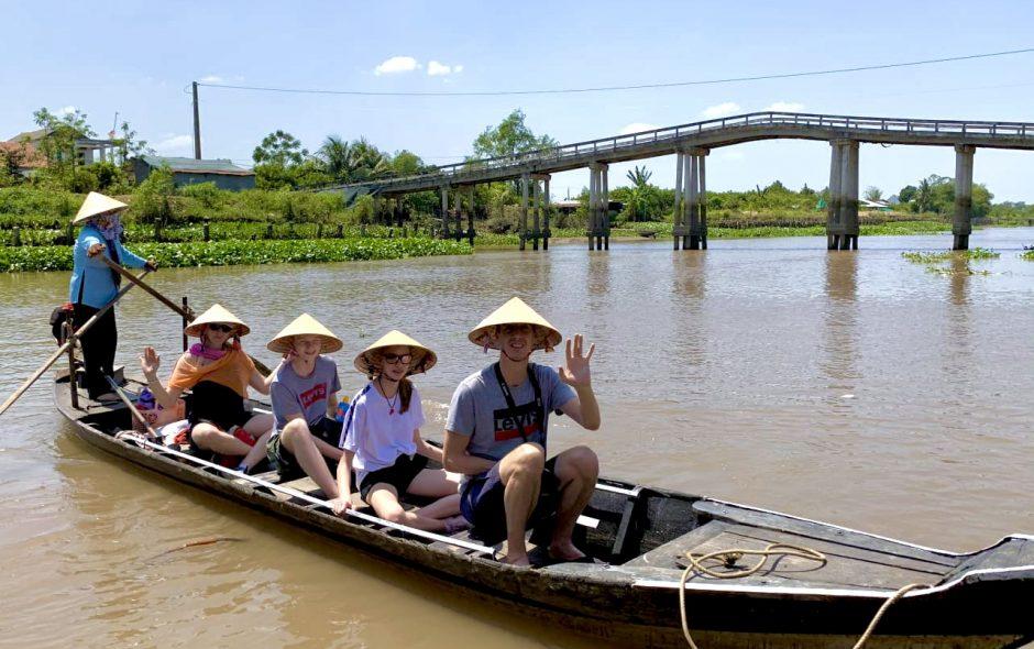 Balade en sampan Mekong